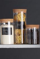 Kitchen Craft - Eco-friendly natural elements glass storage canister - medium