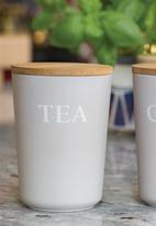 Kitchen Craft - Eco-friendly bamboo fibre storage canisters - tea