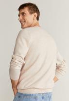 MANGO - Ten Cotton Cashmere-blend  sweater knitwear - beige