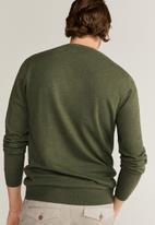 MANGO - Ten Cotton Cashmere-blend  sweater knitwear - green