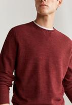 MANGO - Antigua sweater - red