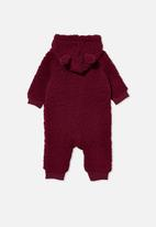 Cotton On - Archie all in one - burgundy
