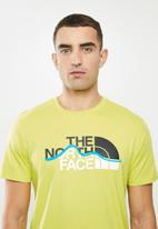 The North Face - Short sleeve mountain line tee - green