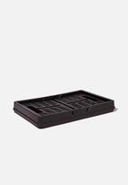 Typo - Midi foldable storage - black