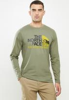 The North Face - Long sleeve image ideals tee - green