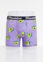 Franklees - Avocardio long leg trunks - purple