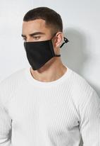 Superbalist - 3 pack face masks - black