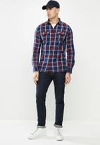 Superdry. - Classic lumberjack shirt - blue & red
