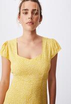 Cotton On - Woven cleo tie back midi dress - ingrid ditsy bamboo