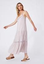 Cotton On - Woven becky strappy ruffle maxi dress - ashlee ditsy lilac bloom