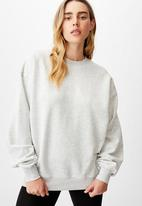 Cotton On - Classic crew - light grey marle