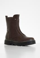 Plum - Pais chunky ankle boot - brown