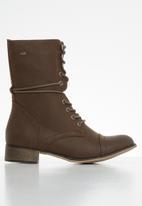 Miss Black - Bon bon 2 mid calf boot - brown