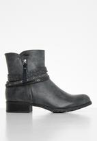 Plum - Romy ankle boot - grey-navy
