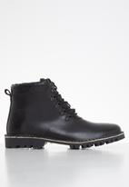 Superbalist - Marvin leather lace-up boot - black