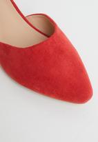 Butterfly Feet - Sling ankle strap heel - red