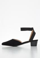 Butterfly Feet - Sling ankle strap heel - black