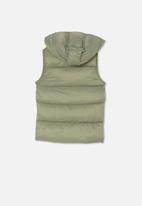 Cotton On - Billie puffer vest - green
