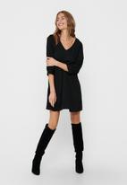 Jacqueline de Yong - Sally puff sleeve dress - black