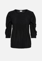 Jacqueline de Yong - Mahi top - black lurex