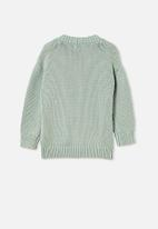 Cotton On - Winnie washed rib cardi - green