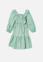 Cotton On - Jenna long sleeve dress - green