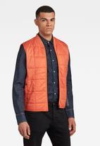G-Star RAW - Lt wt quilted vest - acid orange