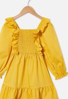 Cotton On - Jenna long sleeve dress - yellow