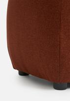 Sixth Floor - Plump rectangle ottoman - clay