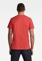 G-Star RAW - 1 Reflective graphic short sleeve tee - red