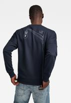 G-Star RAW - Drop shoulder objects graphic long sleeve sweat - navy