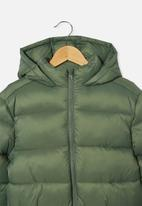 Free by Cotton On - Charlie puffer - olive