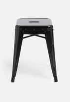 H&S - Metal stool - black