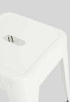 H&S - Metal stool - white