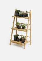 H&S - Flower pot stand-Bamboo