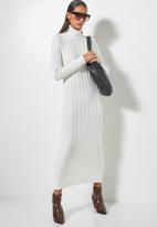 Superbalist - Organic cotton chunky roll neck dress - white
