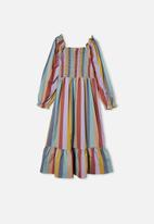 Free by Cotton On - Isla long sleeve dress - multi