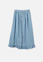 Free by Cotton On - Yasmin midi skirt - blue