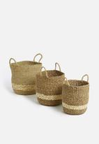 Storage Solutions - Palmleaf basket set of 3 - natural