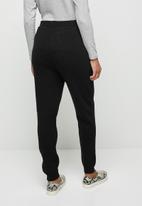 edit - Knitwear harem pant - black