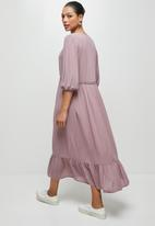 edit - Embroidered gypsy midi - dusty pink