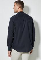 Superbalist - Lee regular fit mandarin oxford shirt - navy