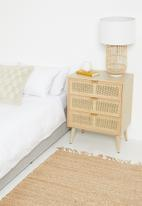 Sixth Floor - Rattan 3 drawer unit - natural