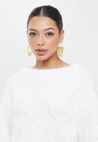 Glamorous - Co-ord jumper - white