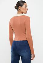 Glamorous - Collar knit - rust
