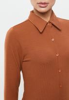 Glamorous - Rib dress - rust