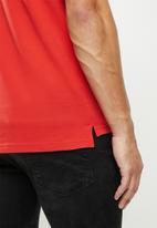 G-Star RAW - G-Star Raw graphic slim  short sleeve polo - red