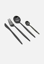 Finery - Cutlery 12pc set - carbon black