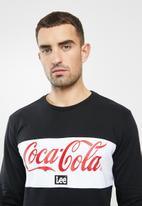 Lee  - Split panel coke sweat - black