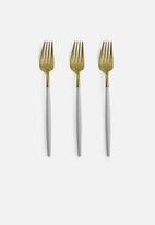 Finery - Cutlery 12pc set - gold & white